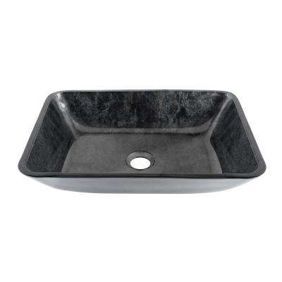 Rectangular Vessel Sink in Gray Onyx