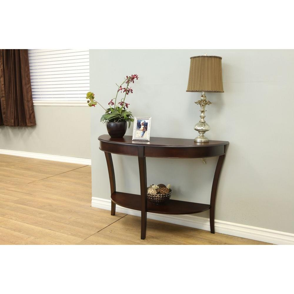 Frenchi Home Furnishing Walnut Console Table