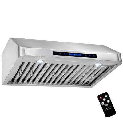 30 in. Under Cabinet Range Hood in Stainless Steel with Touch Controls, Remote Control and Gas Sensor