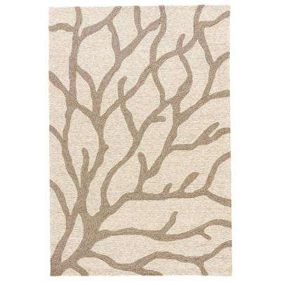 White Asparagus 2 ft. x 3 ft. Novelty Indoor/Outdoor Area Rug