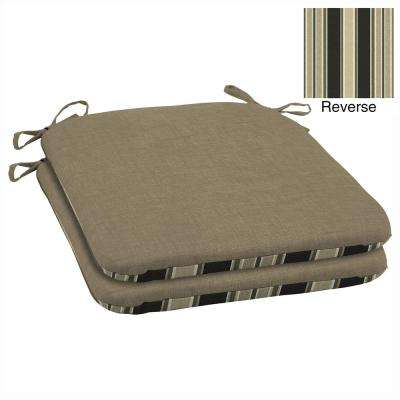 19 x 18 Sandstone Leala Texture Outdoor Seat Cushion (2-Pack)