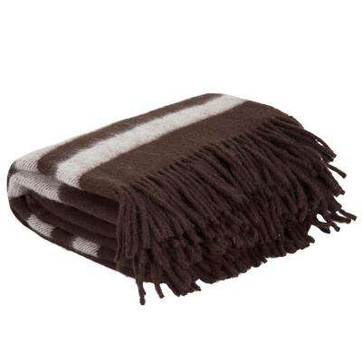 Brown Australian Wool Throw