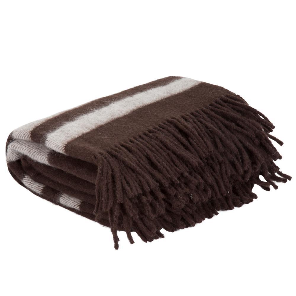 Brown Australian Wool Throw
