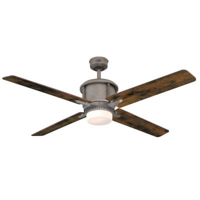 Cliff 56 in. Integrated LED Industrial Steel Ceiling Fan with Light Kit and Remote Control