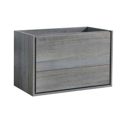 Catania 36 in. Modern Wall Hung Bath Vanity Cabinet Only in Ocean Gray