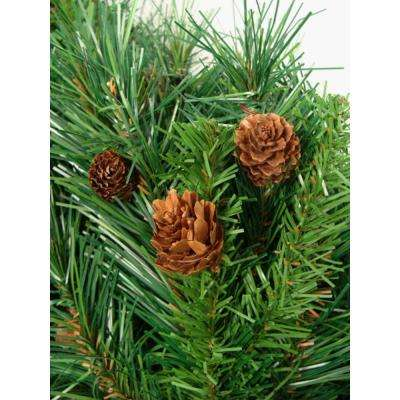 7.5 ft. x 56 in. Dakota Red Pine Full Artificial Christmas Tree with Pine Cones