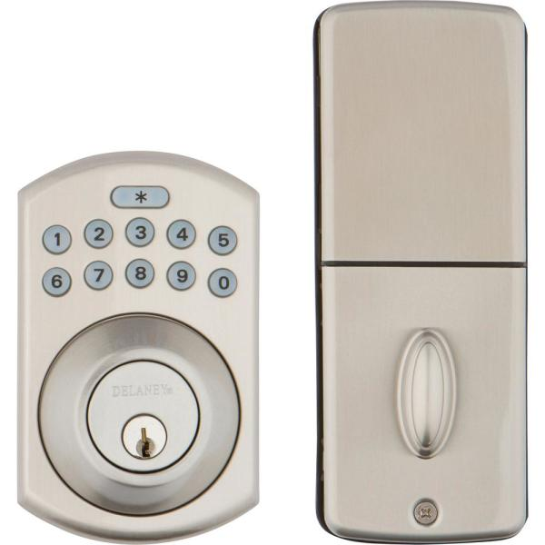 Satin Nickel Digital Single Cylinder Deadbolt