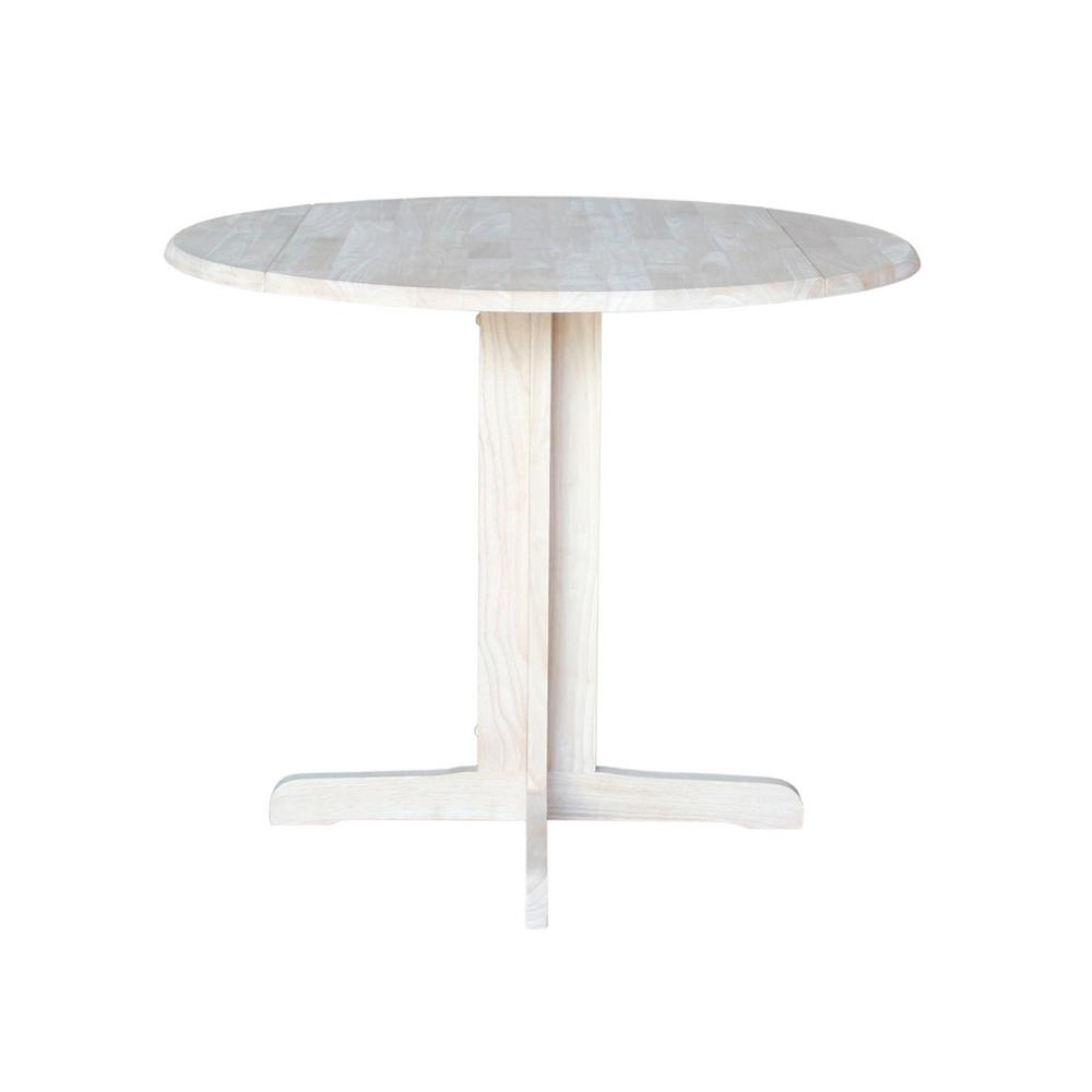 International concepts unfinished skirted dining table t for Home depot kitchen table