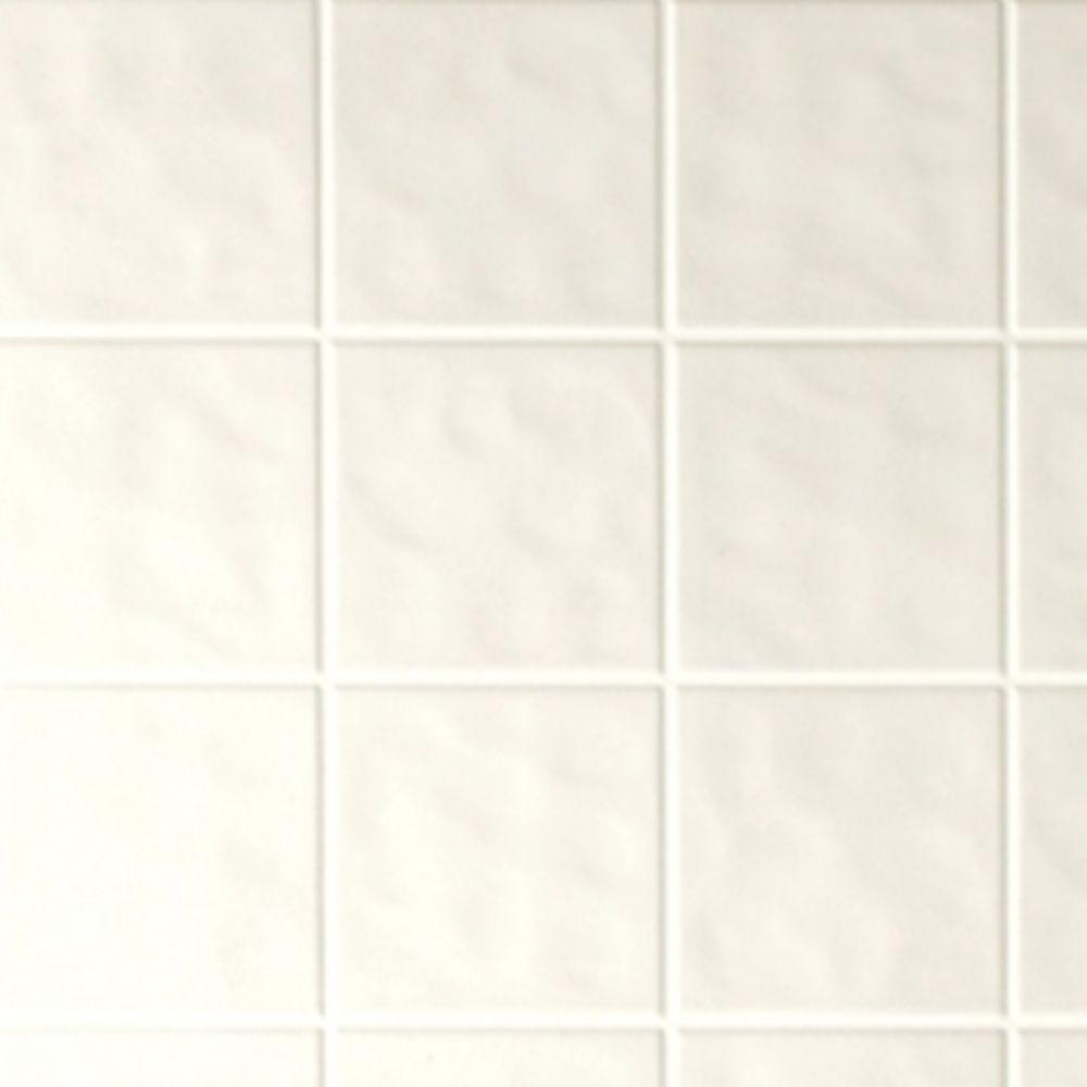 Aquatile 18 in x 48 in x 96 in toned white tileboard 709108 18 in x 4 ft x 8 ft tone white tile dailygadgetfo Gallery