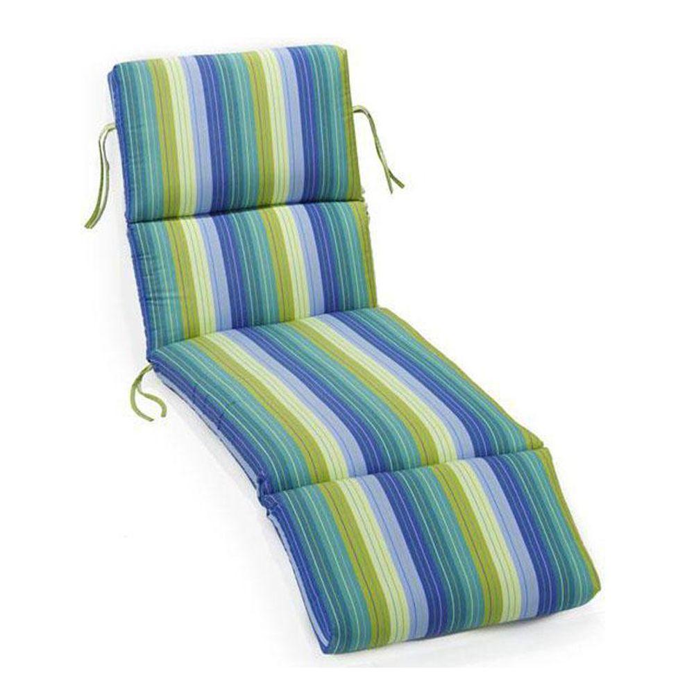 Sunbrella Seaside Seville Outdoor Chaise Lounge Cushion