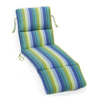 Sunbrella Seaside Seville Outdoor Chaise Lounge Cushion