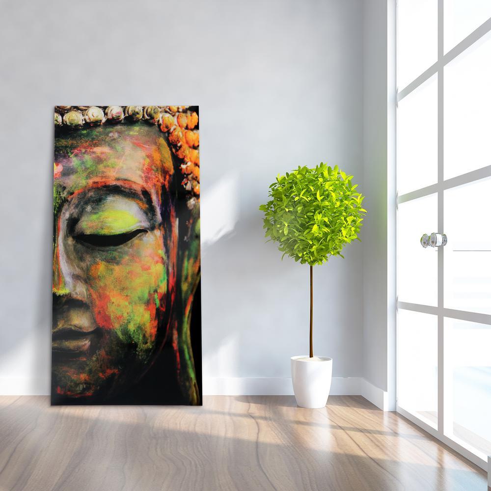 """Buddha"" Frameless Free Floating Tempered Art Glass by EAD Art Coop Wall Art"