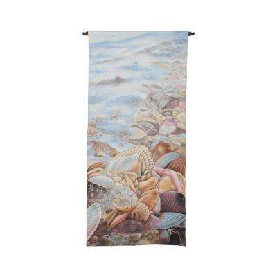 "Multicolor ""Seafoam and Shells"" Wall Tapestry"