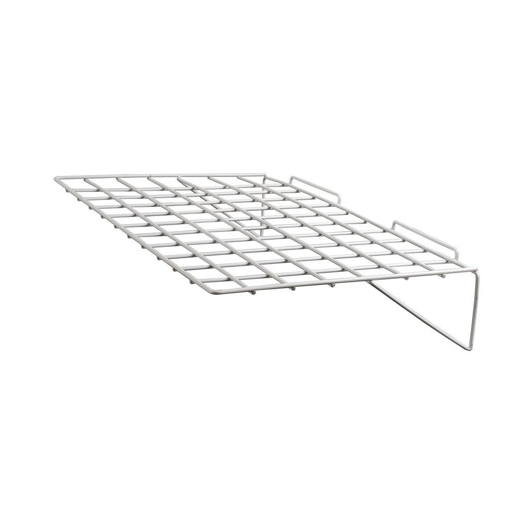 24 in. W x 14 in. D White Straight Shelf