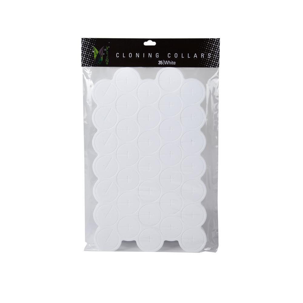 7 oz. Aeroponic White Cloning Collars (35-Pack)