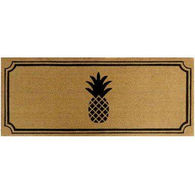 Pineapple 60 in. x 24 in. Slip Resistant Coir Door Mat
