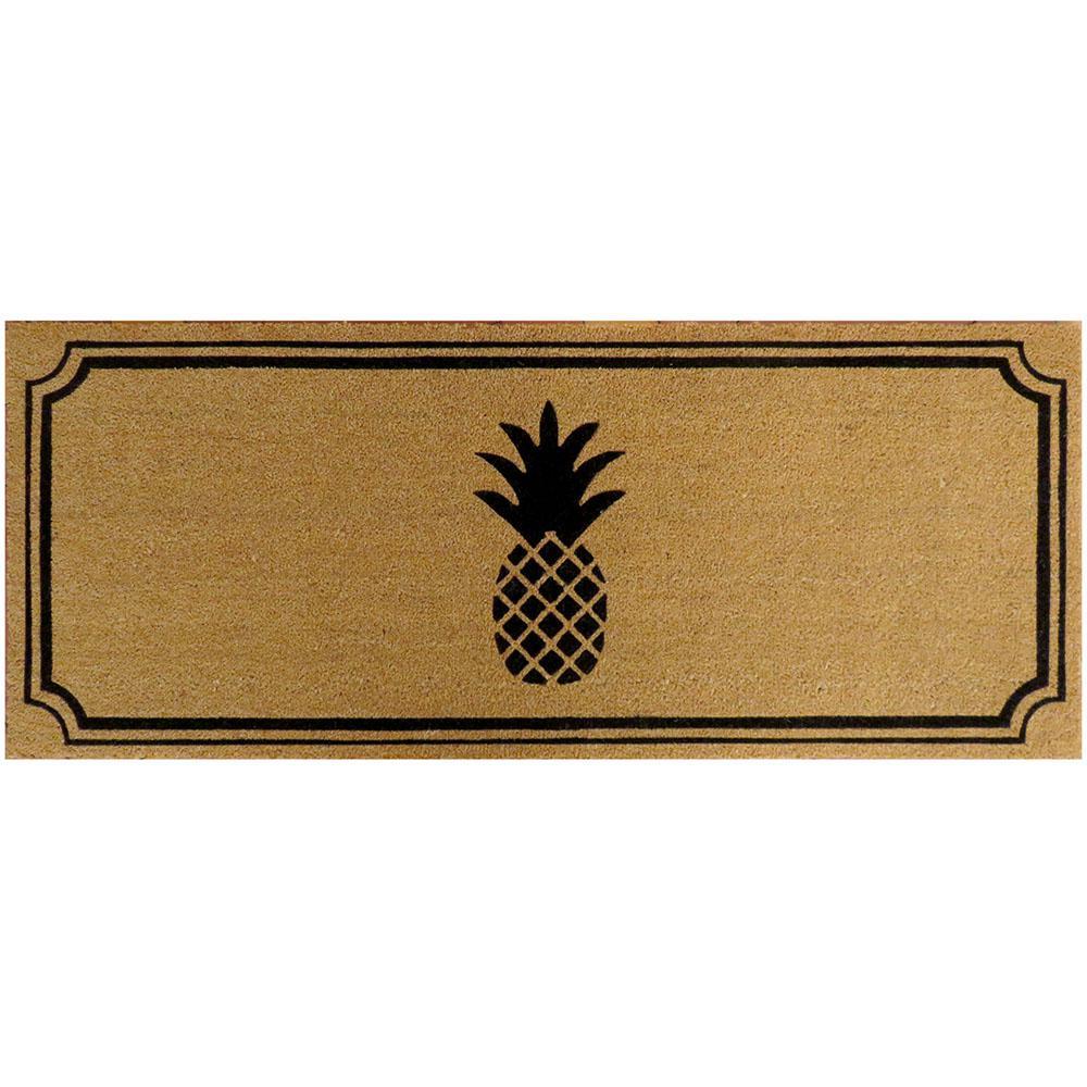 Pineapple 60 in. x 24 in. Slip Resistant Coir Door Mat