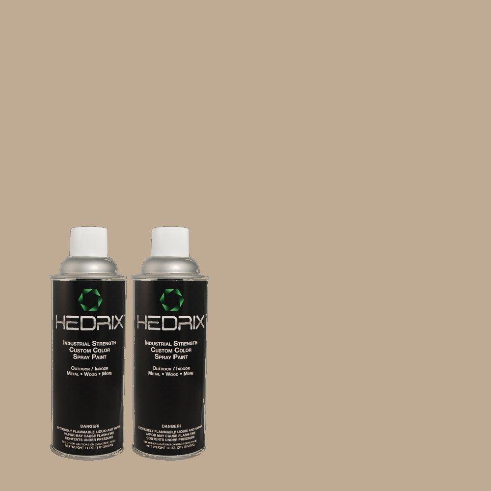 Hedrix 11 oz. Match of ECC-45-1 Deer Run Semi-Gloss Custom Spray Paint (2-Pack)
