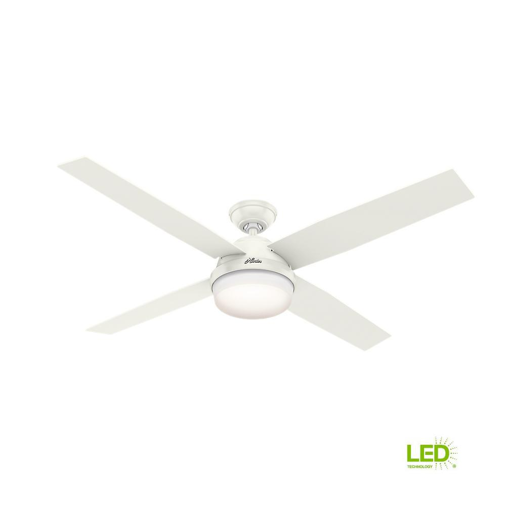 Led Indoor Fresh White Ceiling Fan With Universal Handheld Remote Control
