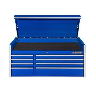 THD Series 55 in. 8-Drawer Top Chest in Blue