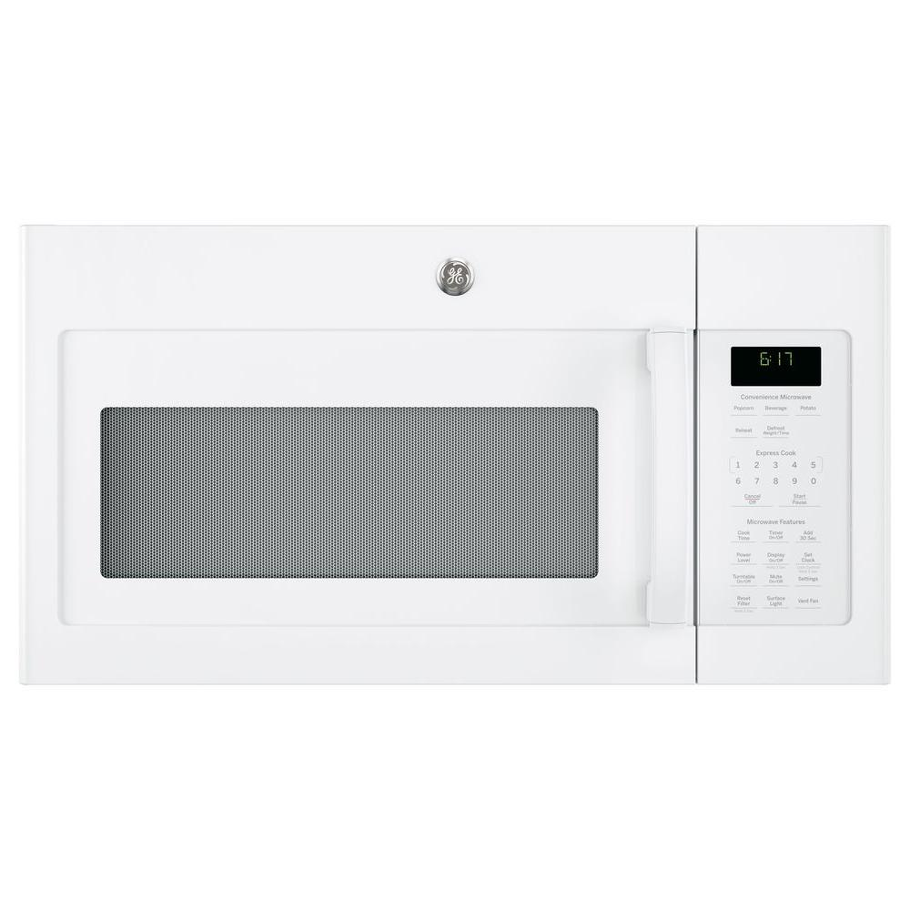 Ge 1 7 Cu Ft Over The Range Microwave In White