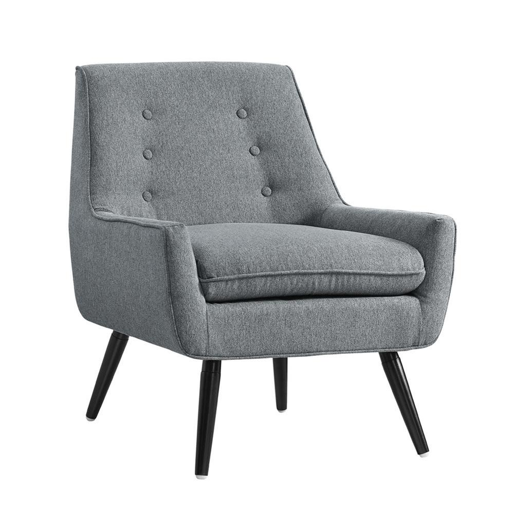 Linon home decor trelis gray flannel arm chair