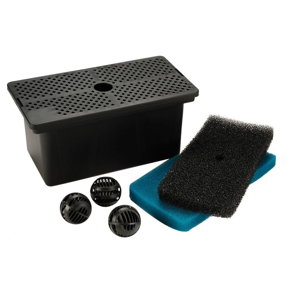Total pond universal pump filter box mf13010 the home depot for Fish pond pumps and filters