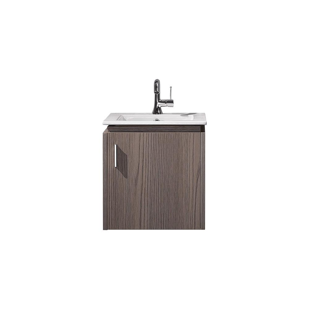 ROSWELL Aosta 4 in. W x 4 in. D Bath Vanity in Dark Grey with Vanity Top  in White with White Drop-In Porcelain sink