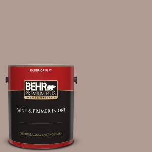 Behr Premium Plus 1 Gal N170 4 Coffee With Cream Flat Exterior Paint And Primer In One 440001 The Home Depot
