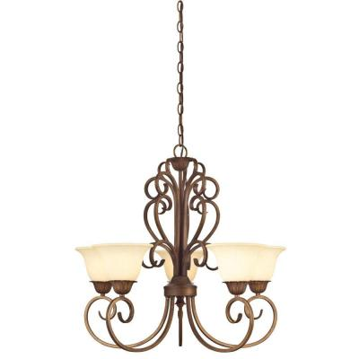 Regal Springs 5-Light Ebony Gold Chandelier