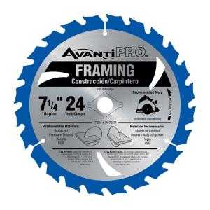 Click here to buy Avanti Pro 7-1/4 inch x 24-Tooth Carbide Framing Saw Blade by Avanti Pro.