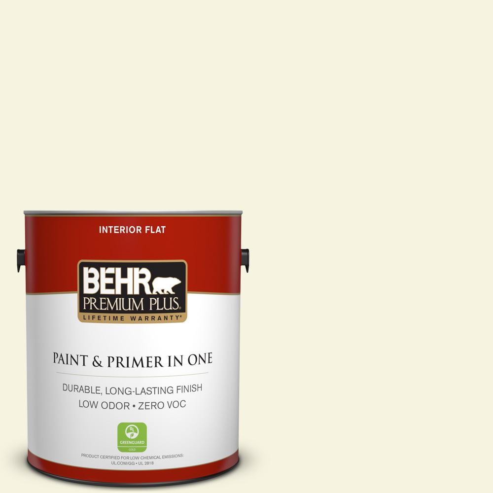 BEHR Premium Plus 1-gal. #400C-1 White Jasmine Zero VOC Flat Interior Paint