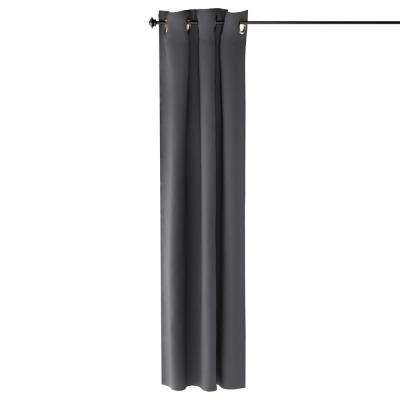 Collins Polyester Blackout Curtain in Dark Grey - 42 in. x 84 in.