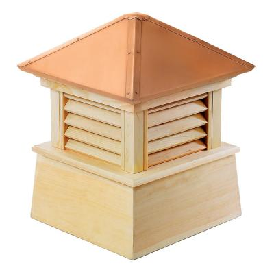 Manchester 26 in. x 32 in. Wood Cupola with Copper Roof