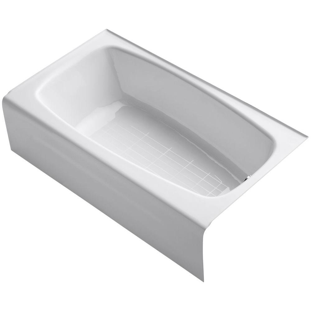 KOHLER Seaforth 4.5 ft. Right Drain Rectangular Alcove Soaking Tub ...