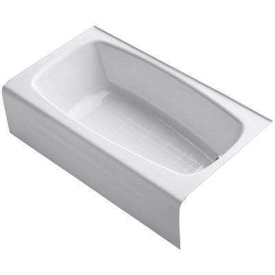 Seaforth 4.5 ft. Right Drain Rectangular Alcove Soaking Tub in White