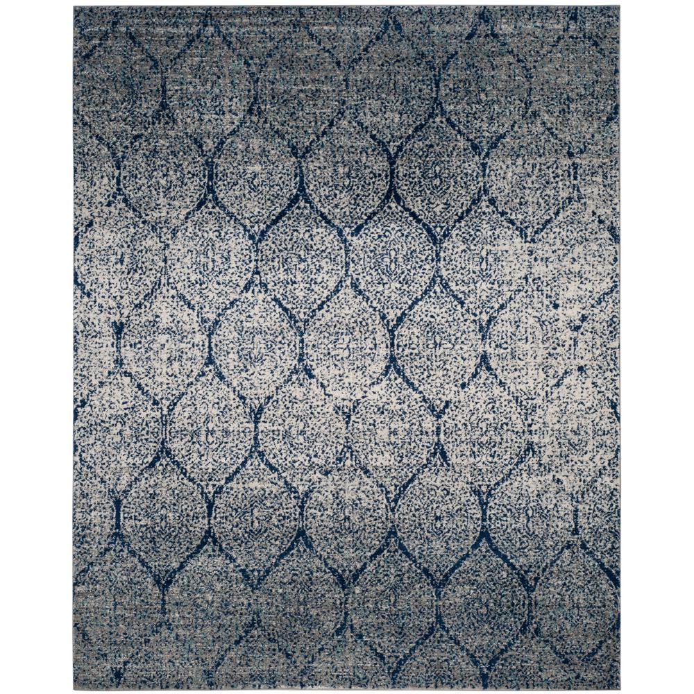 Safavieh madison navy silver 9 ft x 12 ft area rug for Area 604