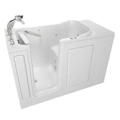 Exclusive Series 48 in. x 28 in. Left Hand Walk-In Whirlpool and Air Bath Tub with Quick Drain in White