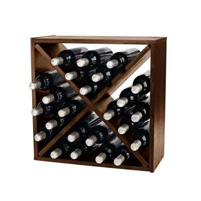 Compact Cellar 12 in. W Cube Wine Rack in Walnut