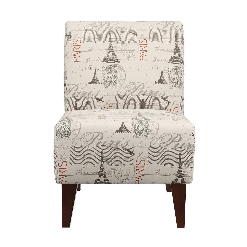 Amazing North Accent Slipper Paris Script Side Chair Usc630100Ca Frankydiablos Diy Chair Ideas Frankydiabloscom