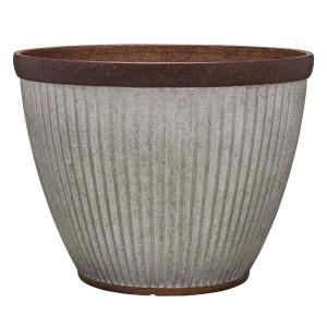 Westlake 15 in. x 11 in. Galvanized Rustic High-Density Planter