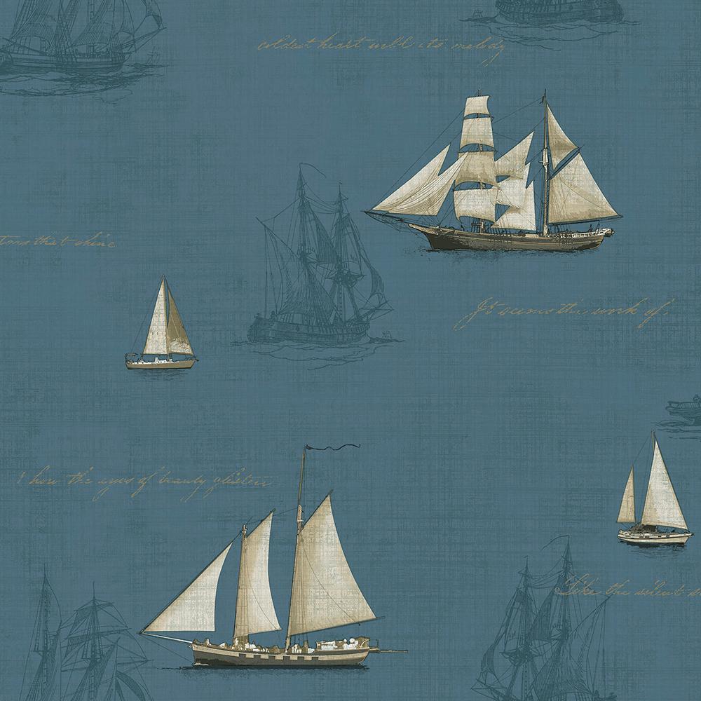 Chesapeake Andrew Blue Ships Wallpaper