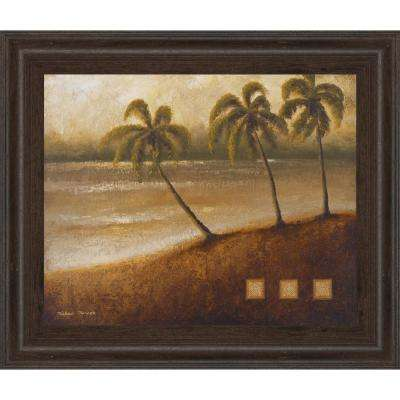 "22 in. x 26 in. ""Tropical Escape II"" by Michael Marcon Framed Printed Wall Art"