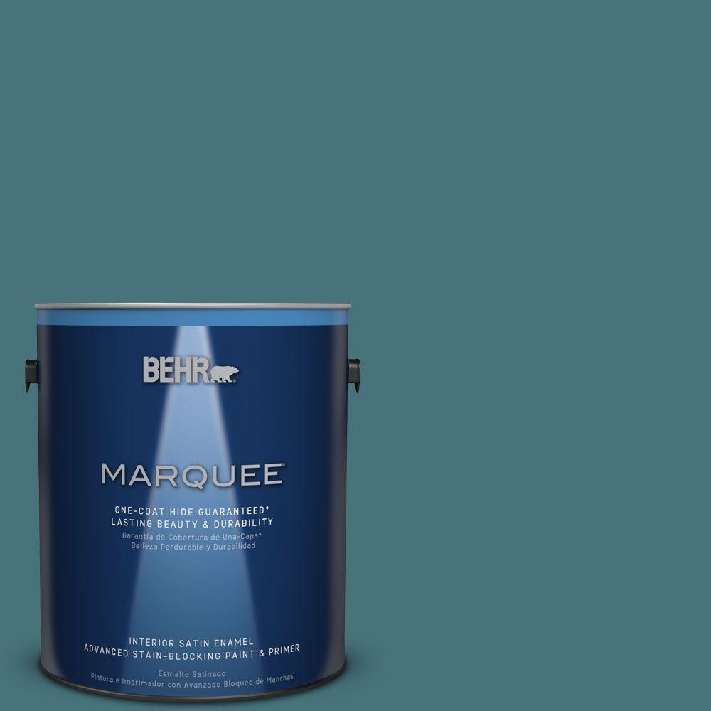 1 gal. #HDC-FL15-03 Blue Sage Satin Enamel Interior Paint