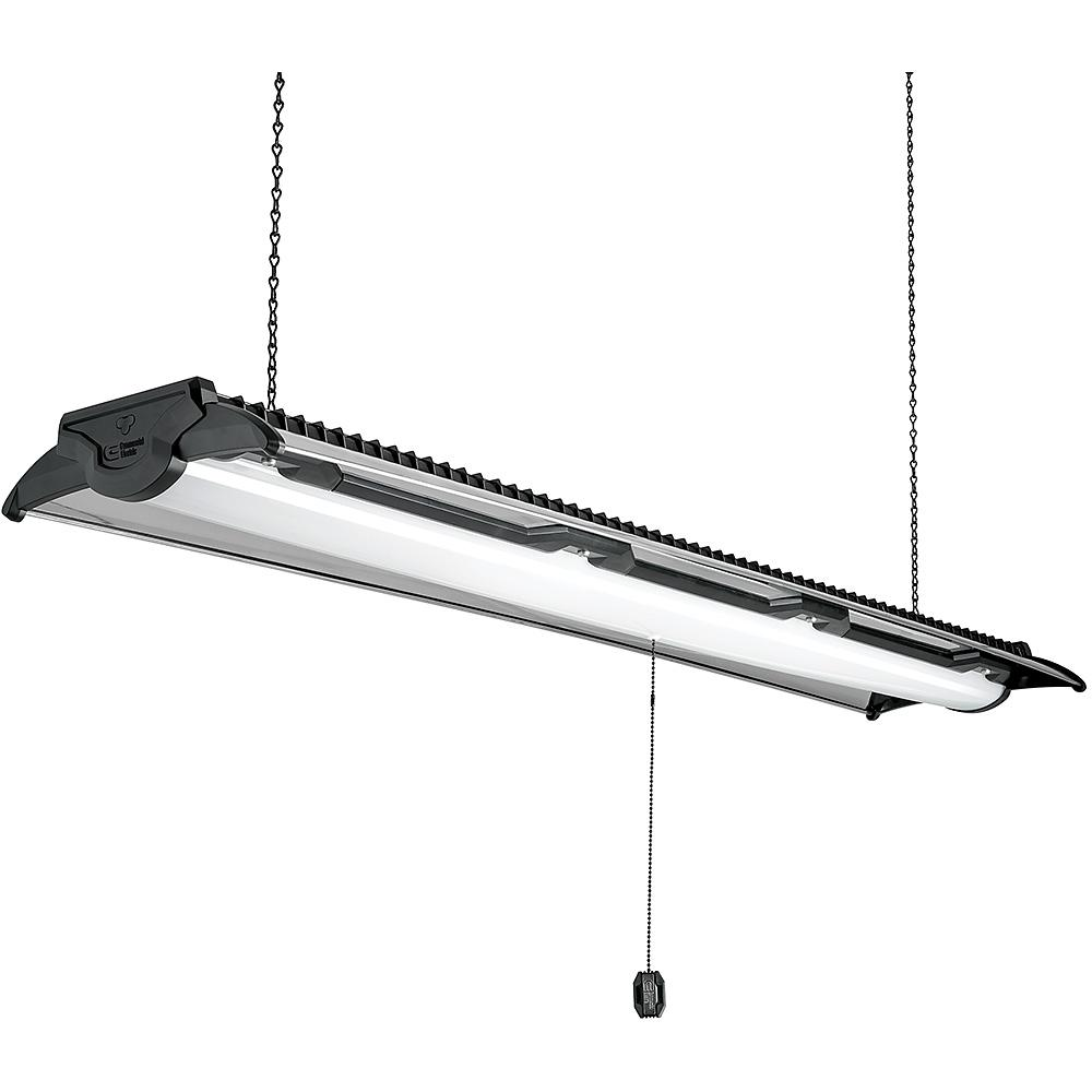 Commercial Led Shop Lights: Commercial Electric Heavy Duty Style 4 Ft Black & Brushed