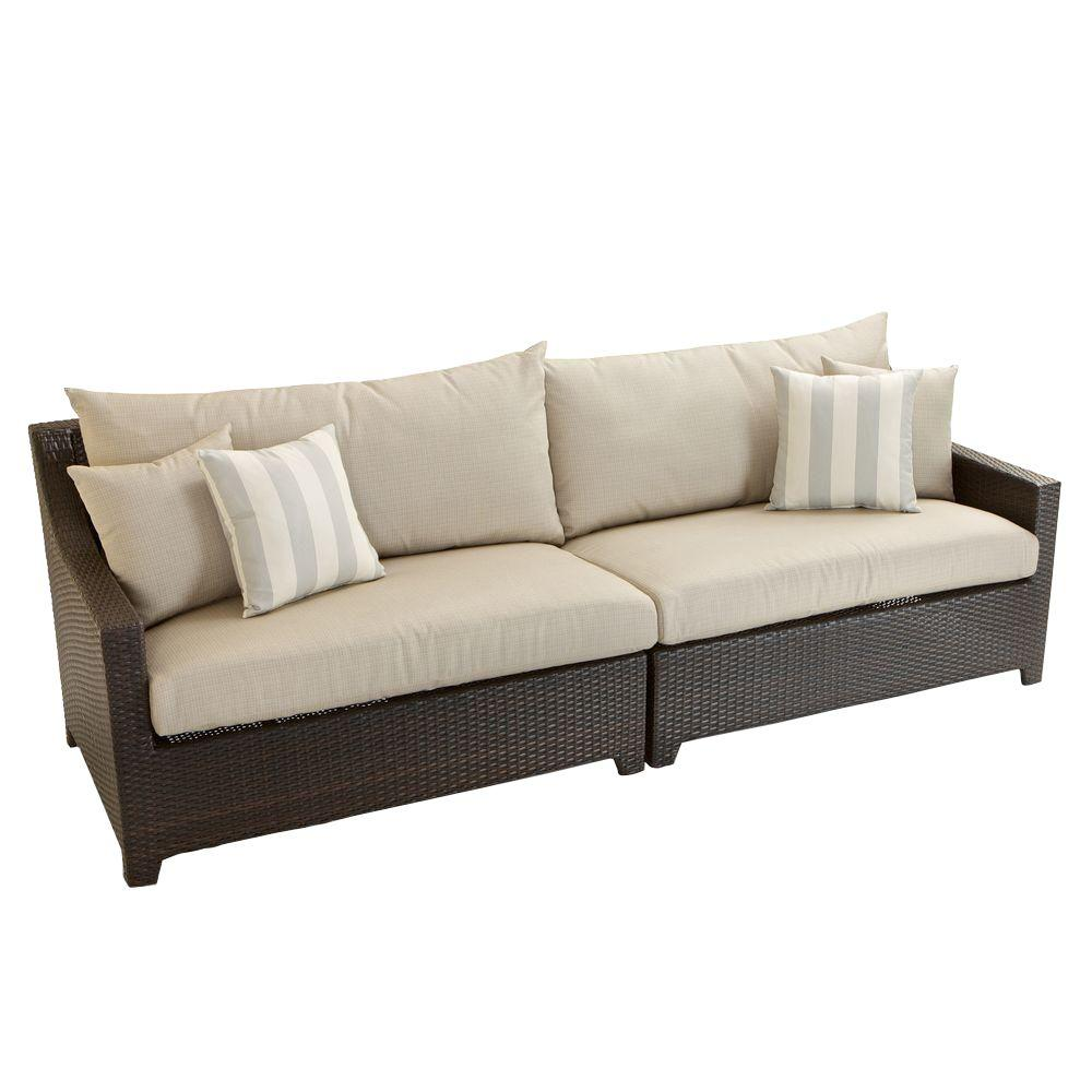 Bon RST Brands Deco Patio Sofa With Slate Grey Cushions