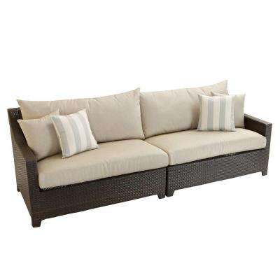 Deco Patio Sofa with Slate Grey Cushions