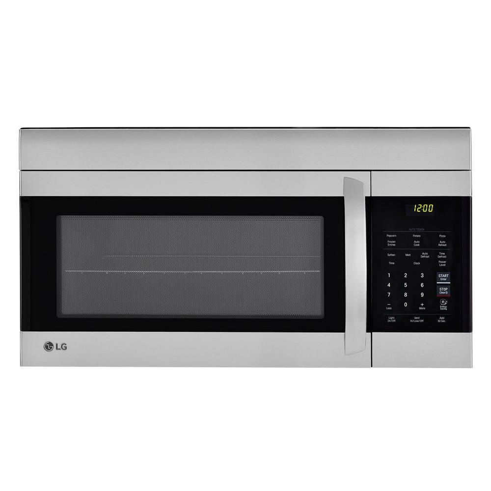 lg electronics 1 7 cu ft over the range microwave oven in stainless steel with easyclean. Black Bedroom Furniture Sets. Home Design Ideas