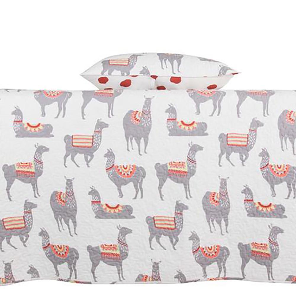 Lennie the Llama Multi King Quilt Set