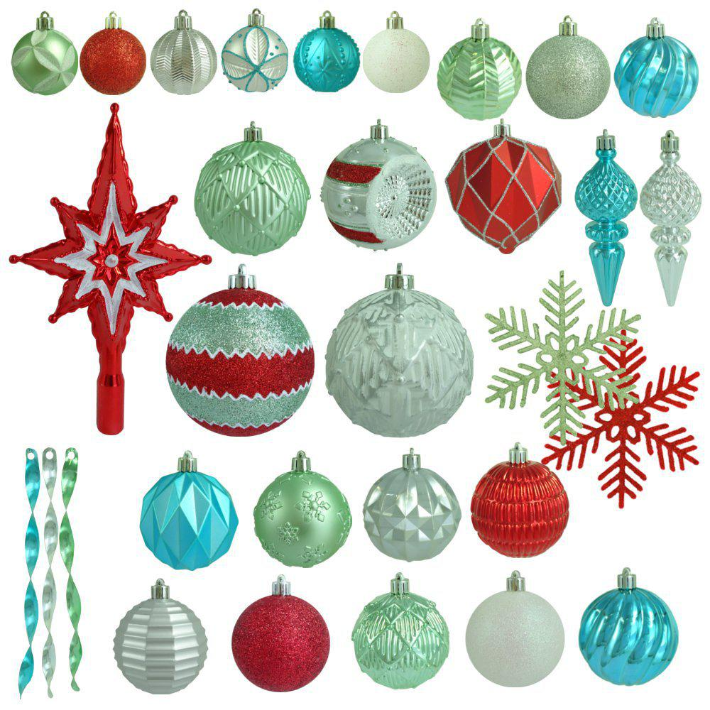 martha stewart living christmas morning shatter resistant ornament 100 count - Martha Stewart Christmas Tree Decorations